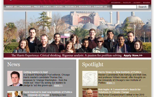 UNIVERSITY OF CHICAGO – THE HARRIS SCHOOL PUBLIC POLICY